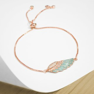 Edith & Jaz • Angel Wing Bling Bling Bracelet - Rose Gold Color