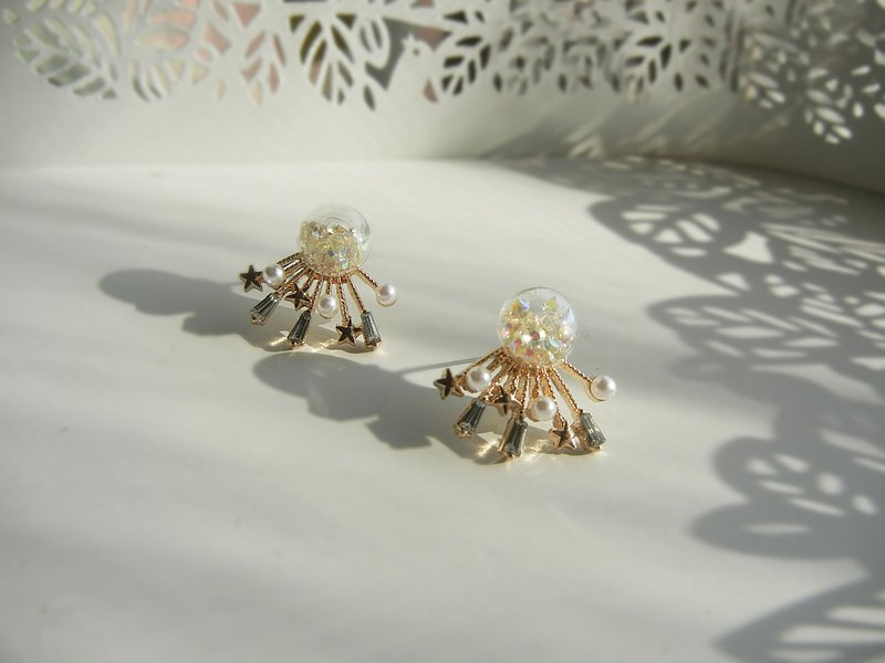 *coucoubird*Christmas shooting star earrings