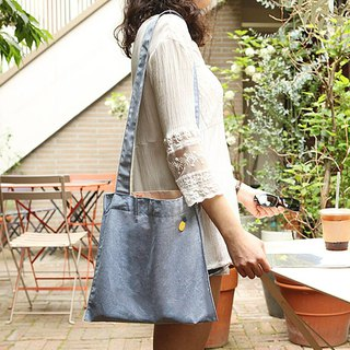 Antenna Shop Travel Walking Embroidery Tote Bag - Denim Blue, ATS95742