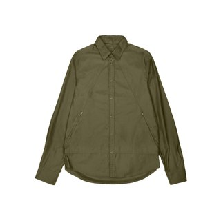oqLiq - Display in the lost - Mountain zip shirt (green)