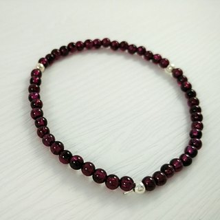 Customized order - Purple tooth (garnet) bracelet extended - Mr. Gao