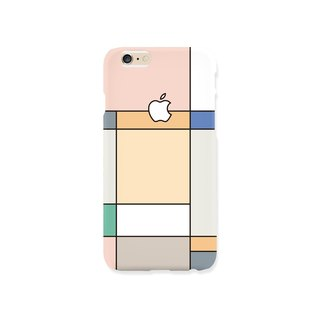 iPhone case - Pastel Grid Graphic - for iPhones, non-glossy hard shell M27