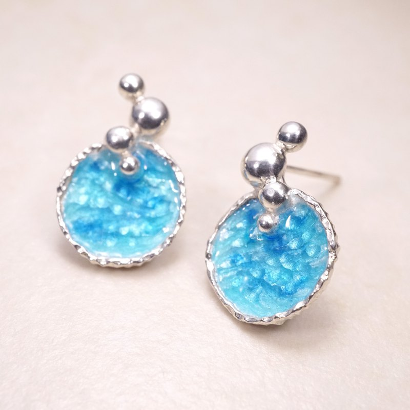 Ocean Series - Azure Silver Earrings