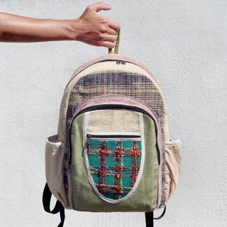 Christmas gift limit after a hand stitching design cotton backpack / shoulder bag / ethnic mountaineering bag / Patchwork bag - hand twist Sari line geometry nation Backpack