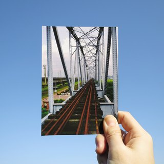Quietly draw cool card / multifunctional storage postcard / old iron bridge III