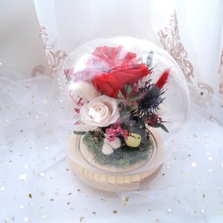 [妳 is the only] no red rose chinchillas night light / crystal ball / glass 盅 / eternal flower