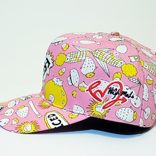 Follow Your Love Printed Baseball Cap - Fun 趴 (Pink) #情侣帽#礼物