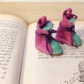 Handmade doll leather boots, small cloth, Lika size