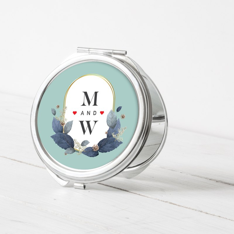 Round Makeup Mirror-Name Your Name Show Six Put Your Favorite Person or Picture on Your Body