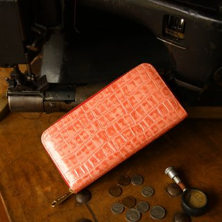 日本製造 牛皮 錢包 红色  made in JAPAN handmade leather wallet