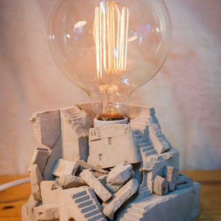 [Throat hand-made workshop] pure hand-made water mold table lamp - [Ruin Palace] with light bulb