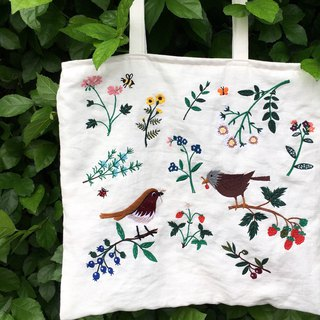 Botanica Garden Embroidered Tote