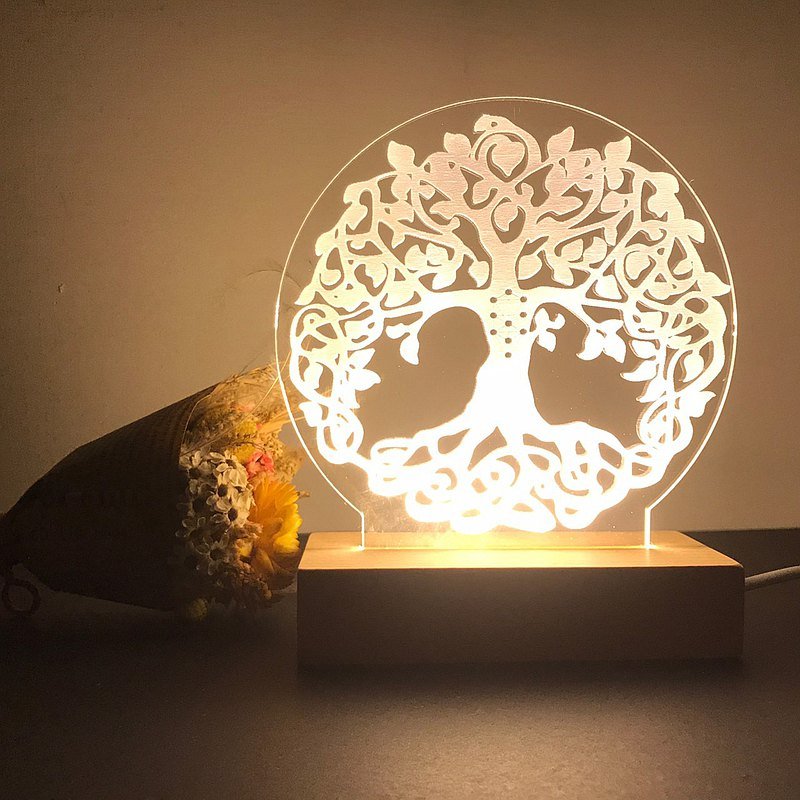 Tree of Life Night Light/Spirituality/Meditation/Energy/Wisdom/Sita/Customized Night Light/Sacred Geometry