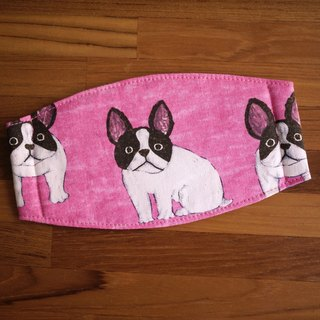 Hand-made to order small things = = daily essentials hand-made masks big ears = = = pink French Bulldog