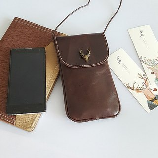 (On the new first 5 fold) can be engraved phone bag mobile phone bag Messenger bag small package package genuine cowhide crazy horse oil wax leather retro old iphone mobile phone bag gift