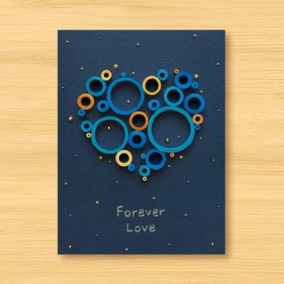 Handmade Roll Paper Card _ Starry Sky - Love from a Distance - Love Dream Bubble Forever Love