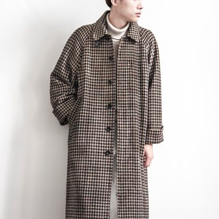 Vintage Houndstooth wool coat vintage Tibetan point