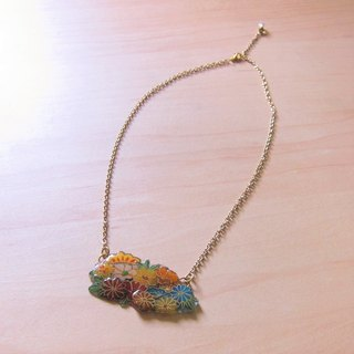 Flowers Ming // 2nd use Accessories / Accessories Cloth / Chinese wind / handmade sweater chain long chain
