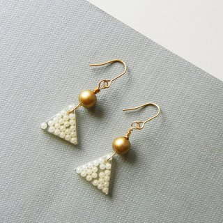 *coucoubird*Cohesion - triangular mini bead earrings