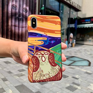 Pandahaluha scream panda iPhoneX hard case ARIPHX-OL / PH-64