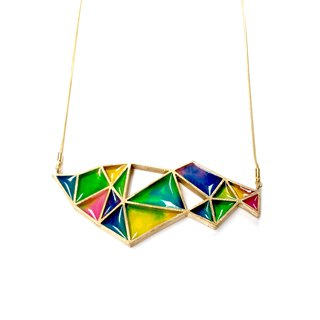 stained glass necklace big