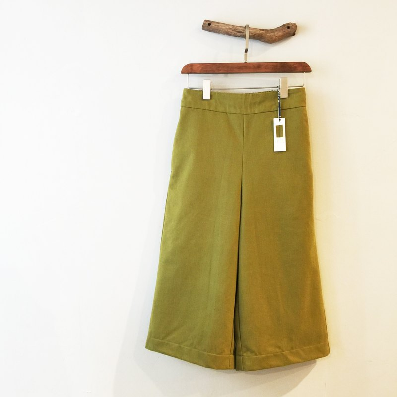 RH clothes / thick warm pound wide pants / mustard yellow (sold out)