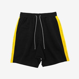 Retro side striped sports shorts:: men and women can wear::