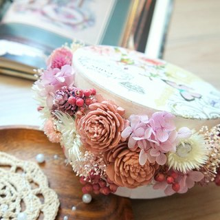 Hand-dried flowers / not withered series ~ sparkling gem box flower / camera props / flower gift box / coffee shop decoration / home arrangement ~