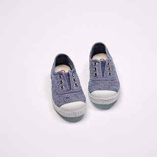 Spanish nationals canvas shoes CIENTA children's shoes jacquard lavender fragrance shoes 70998 90
