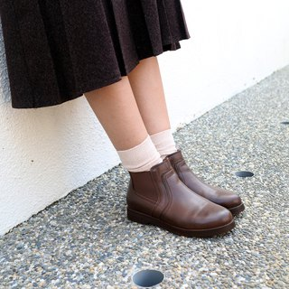 [Northern Country Forest] plain noodles er Erxi short boots _ deep coffee