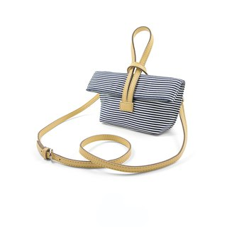 || Mini Hand Lunch Bag || Striped Skin