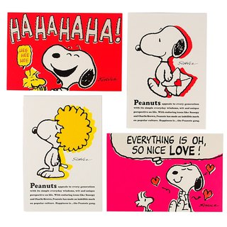 Snoopy Freestyle Classic Postcard Limited Collection Set 4 in [Hallmark-Postcard]