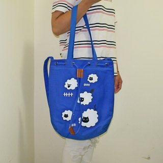 Three cat shop ~ sheep cat bag - blue