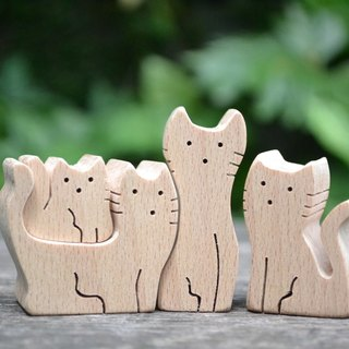 Meow meow series ★ handmade wood