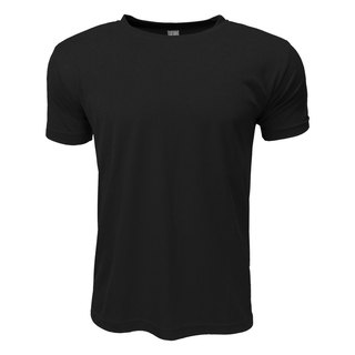3D straight striped moisture wicking round neck T :: Black:: Men and women can wear
