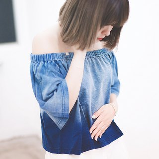 Blue Denim - gradient color shirt shirt