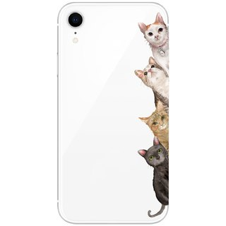Four cats x peekaboo - mobile phone case / anti-fall / air pressure shell / customizable handwriting + plus words
