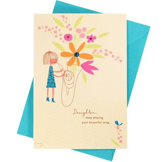 Celebrate her daughter's birthday [Hallmark-card birthday greetings]