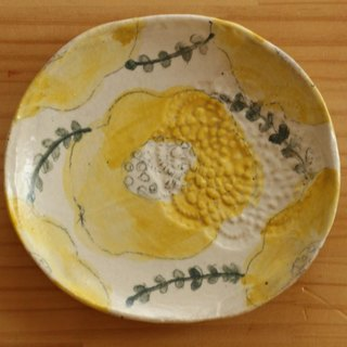 ※ Order Production ※ Drying Yellow flower oval dish.
