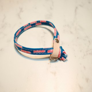 Cat collar red dotted hand-painted wind can add purchase tag