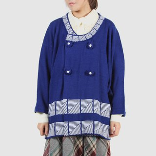 [Egg plant vintage] square sugar flower grain Kashmir open wide-sleeved vintage kimono sweater