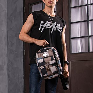 "SOLIS [ Camouflage Series ] 10"" Tablet Backpack(Dark grey)"