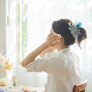 Smoky || Blooming Sakiami Colourful Hair Scrunchy || Hair Accessory / Hair Tie