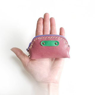 POPO│ lightweight palm │ │ key small purse pink color. Genuine leather