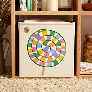 US kaikai & ash toy storage box - neon colorful lollipop
