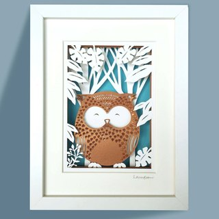 3D Layered Paper Cutting  Animal Series - Owl