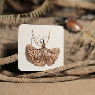 迢迢tiaotiao leather ginkgo necklace - handmade leather / limited edition