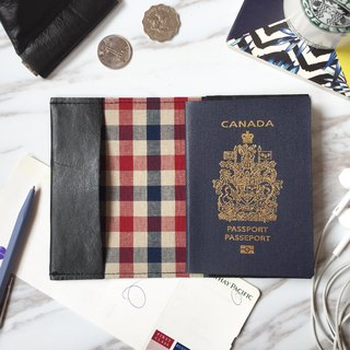 Black leather passport sleeve passport cover