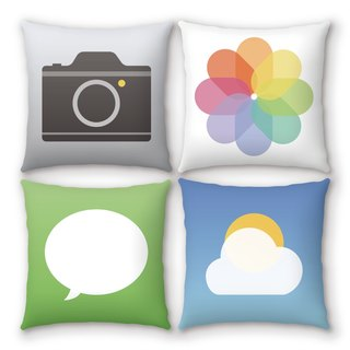 AppleWork iPillow a group of four creative pillow ICON PSIP-21-24