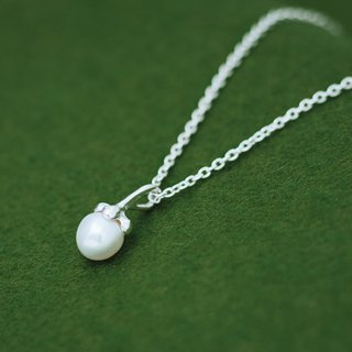 Mangosteen Freshwater Pearl pendant (chain set)
